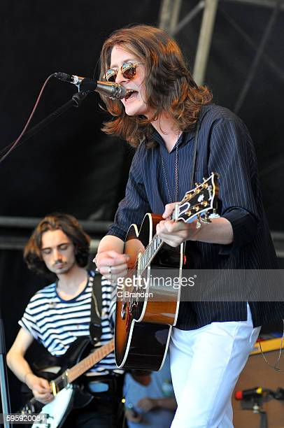 Tom Ogden of Blossoms performs on stage during Day 1 of the Reading Festival at Richfield Avenue on August 26 2016 in Reading England