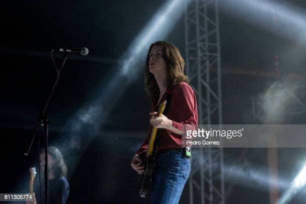Tom Ogden of Blossoms performs on the Heineken stage at day 1 of NOS Alive festival on July 6 2017 in Lisbon Portugal