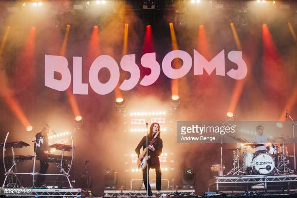 Tom Ogden of Blossoms performs on the main stage during day 1 at Leeds Festival at Bramhall Park on August 25 2017 in Leeds England