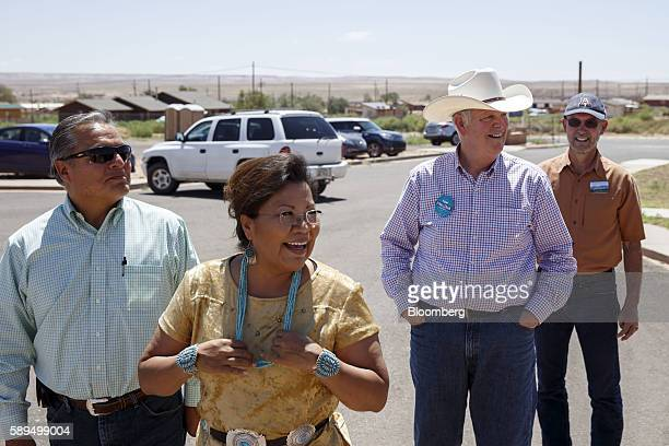 Tom O'Halleran a Democrat from Arizona currently running for Arizona's 1st congressional district second right arrives for a campaign event for...