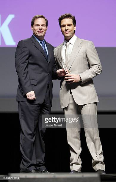Tom Ortenberg and Dane Cook during 2007 ShoWest Lionsgate ShoWest Luncheon Show at Paris Hotel Ballroom in Las Vegas Nevada United States