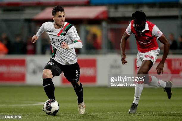 Tom Overtoom of NEC Nijmegen during the Dutch Keuken Kampioen Divisie match between MVV Maastricht v NEC Nijmegen at the Geusselt on May 3, 2019 in...
