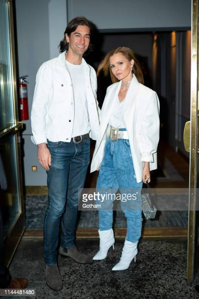 Tom Palmer and Elizabeth Sulcer attend Gigi Hadid's 24th Birthday at L'Avenue in Midtown on April 22 2019 in New York City