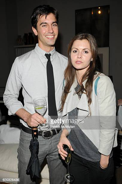 Tom Palmer and Elizabeth Sulcer attend PORTEROCOM Exclusive Vintage CHANEL Bag Auction Preview at Antony Todd on June 18 2008 in New York City