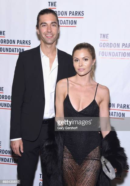 Tom Palmer and Elizabeth Sulcer attend the 2017 Gordon Parks Foundation Awards gala at Cipriani 42nd Street on June 6 2017 in New York City