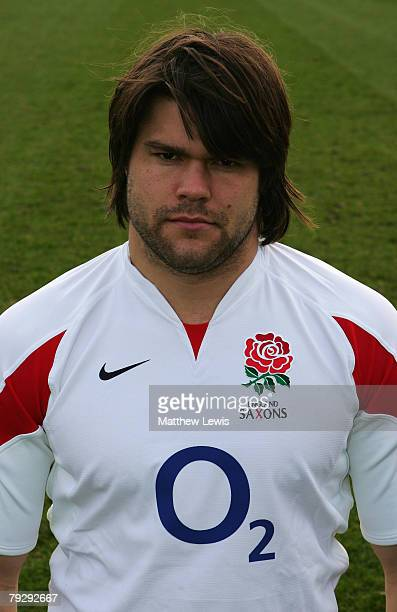 Tom Palmer of the England Saxons pictured during Training at Loughborough University on January 28 2008 in Loughborough England