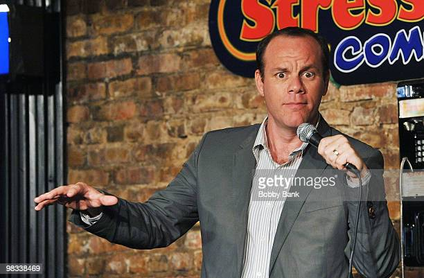 Tom Papa performs at The Stress Factory Comedy Club on April 8 2010 in New Brunswick New Jersey
