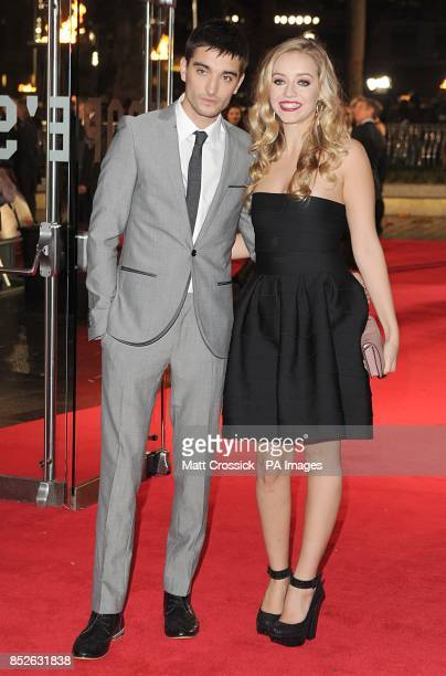 Tom Parker and Kelsey Hardwick arriving for the World Premiere of The Hunger Games Catching Fire at the Odeon Leicester Square London