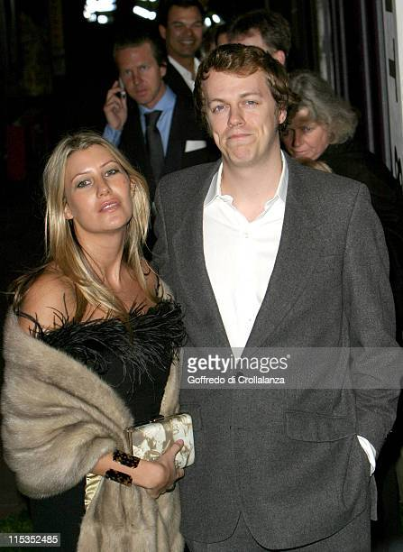 "Tom Parker Bowles and Guest during Tom Parker Bowles' ""E Is For Eating"" Book Launch at Kensington Place in London, England, Great Britain."