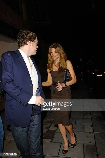 Tom Parker Bowles and Jemima Khan during Celebrity Sightings at Cipriani's in London June 19 2007 at Cipriani's Restaurant in London Great Britain