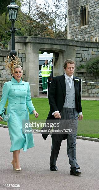 Tom Parker Bowles and Laura Parker Bowles during The Royal Wedding of HRH Prince Charles and Mrs. Camilla Parker Bowles - The Blessing Ceremony -...