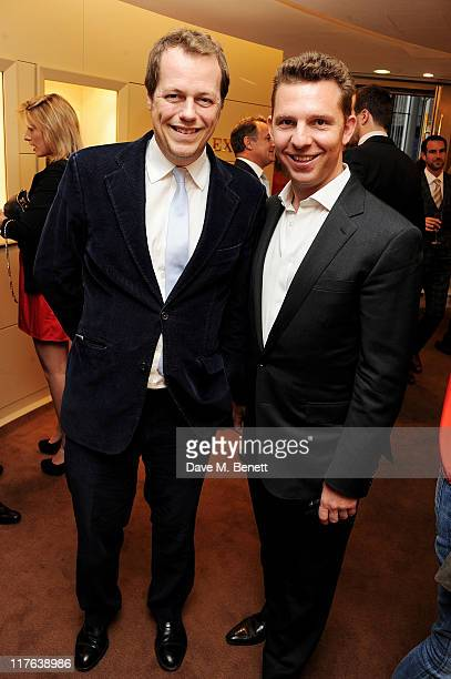 Tom Parker Bowles and Nick Candy attend the opening of the Rolex store at One Hyde Park on June 29, 2011 in London, England.