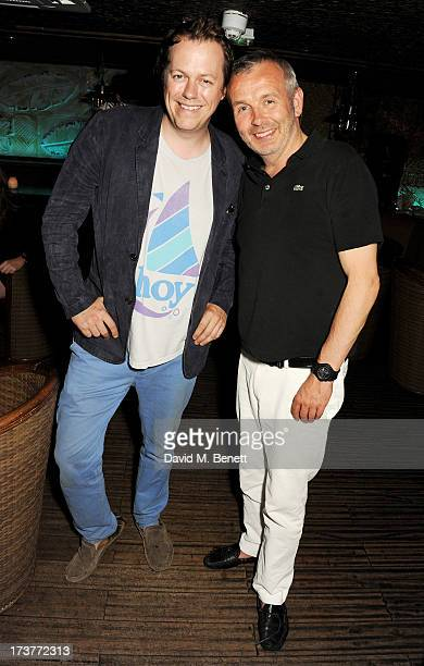Tom Parker Bowles and Piers Adam attend a private dinner hosted by Piers Adam and Tom Parker Bowles at Rock Lobsta in Mahiki on July 17, 2013 in...