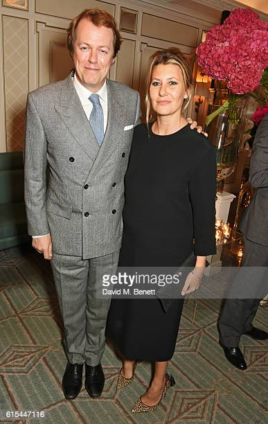 "Tom Parker Bowles and Sara Parker Bowles attend the launch of ""Fortnum & Mason: The Cook Book"" by Tom Parker Bowles at Fortnum & Mason on October 18,..."