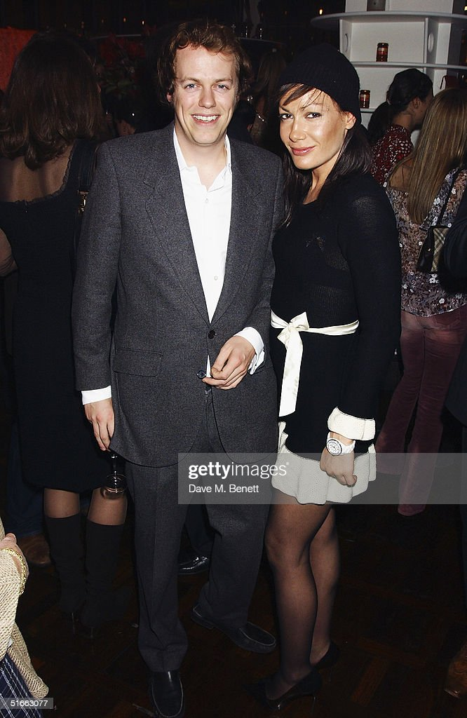 Tom Parker Bowles and TV presenter Tara Palmer-Tomkinson attend the party celebrating the launch of Tom Parker-Bowles new book ' E Is For Eating' at Kensington Place on November 3, 2004 in London. Subtitled 'An Alphabet Of Greed', book focuses on unusual subjects including 'c is for cannibalism' and 'i is for insects'.