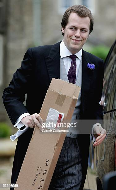 Tom Parker Bowles arrives for the wedding of Laura Parker Bowles and Harry Lopes at St Cyriac's Church Lacock on May 6 2006 in Wiltshire England...