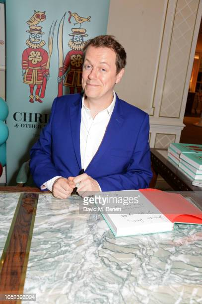 "Tom Parker Bowles attends the launch of the ""Fortnum & Mason Christmas & Other Winter Feasts"" cookbook by Tom Parker Bowles at Fortnum & Mason on..."