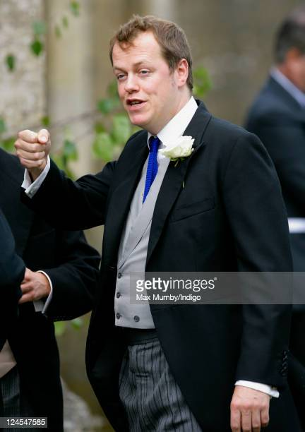 Tom Parker Bowles attends the wedding of Ben Elliot and MaryClare Winwood at the church of St Peter and St Paul Northleach on September 10 2011 in...
