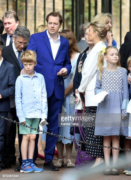 Tom Parker Bowles attends Trooping The Colour 2018 at The Mall on June 9 2018 in London England The annual ceremony involving over 1400 guardsmen and...