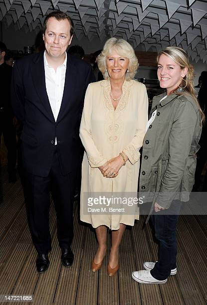 Tom Parker Bowles, Camilla, Duchess of Cornwall and Laura Lopes attend as Tom Parker Bowles launches his new cookbook 'Let's Eat: Recipes From My...