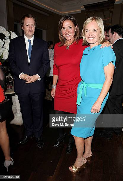 Tom Parker Bowles Catherine Fairweather and Mariella Frostrup attend a cocktail party hosted by new EditorinChief of Harper's Bazaar UK Justine...
