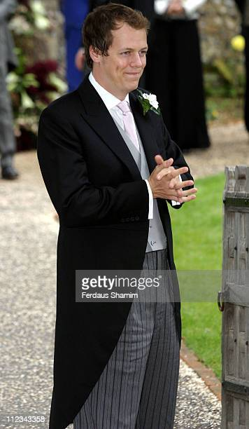 Tom Parker Bowles during Tom Parker Bowles And Sara Buys Wedding at St Nicholas Church in Rotherfield Greys Great Britain