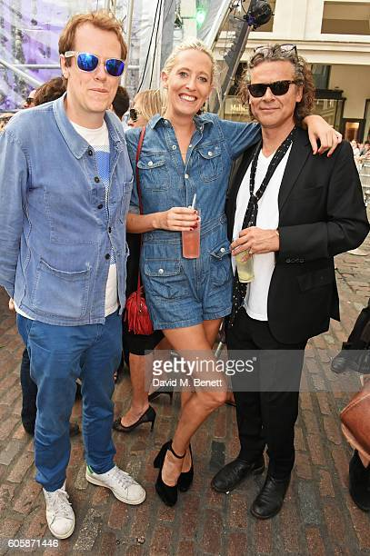 Tom Parker Bowles Sophia Hesketh and George Waud attend as Charlotte Tilbury celebrates the launch of her first fragrance Scent Of A Dream with...