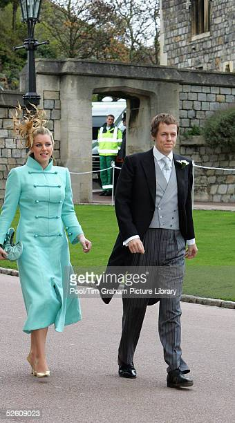 Tom ParkerBowles and his sister Laura ParkerBowles new stepson and stepdaugher of Prince Charles attend the Service of Prayer and Dedication blessing...