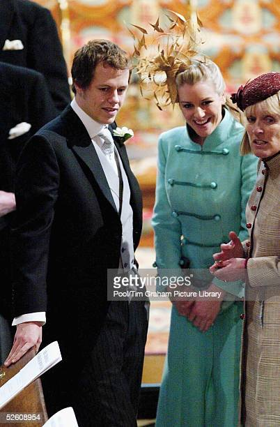 Tom ParkerBowles and his sister Laura ParkerBowles now stepchildren of Prince Charles attend the Service of Prayer and Dedication blessing the...