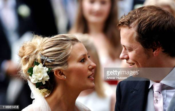 Tom Parker-Bowles and Sara Buys during Tom Parker Bowles And Sara Buys Wedding at St. Nicholas Church in Rotherfield Greys, Great Britain.