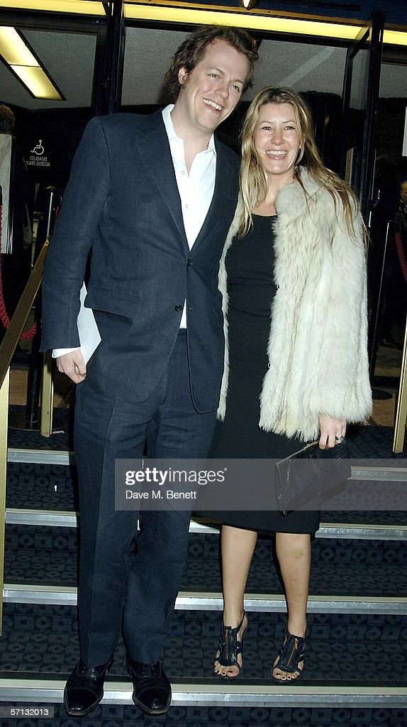 Tom Parker-Bowles and wife Sarah arrive at the UK Premiere of 'The White Countess' at the Curzon Mayfair on March 19, 2006 in London, England.
