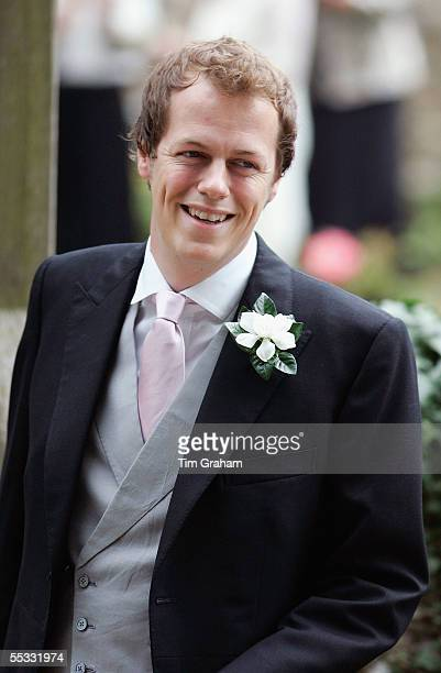 Tom ParkerBowles at his wedding to Sara Buys on September 10 2005 in Oxfordshire England Their marriage ceremony was held at St Nicholas Church at...