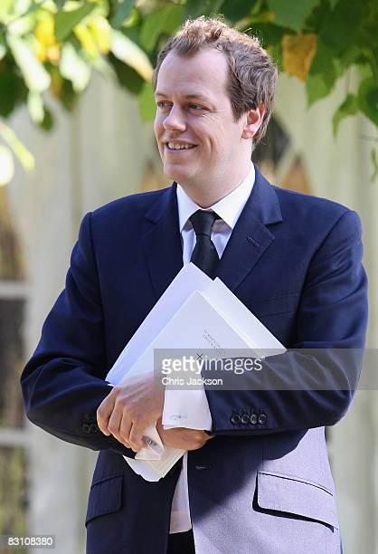 Tom ParkerBowles attends a thanksgiving service for his godfather Gerald Ward at St Mary's Church Chiltern Foliat on October 3 2008 in Hungerford...