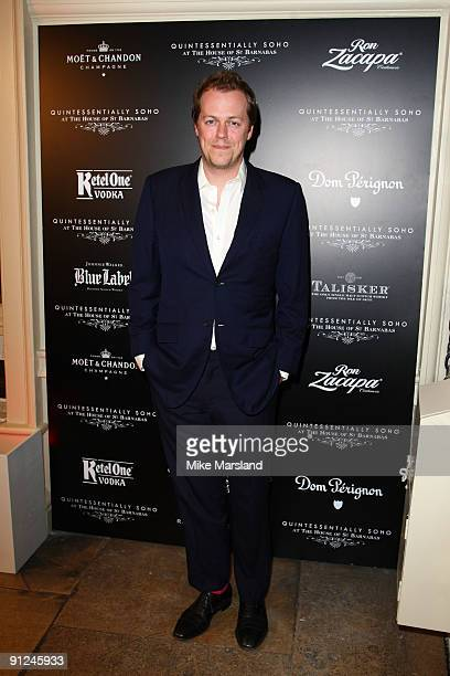 Tom Parker-Bowles attends the Quintessentially Soho & The House Of St Barnabus launch party on September 29, 2009 in London, England.