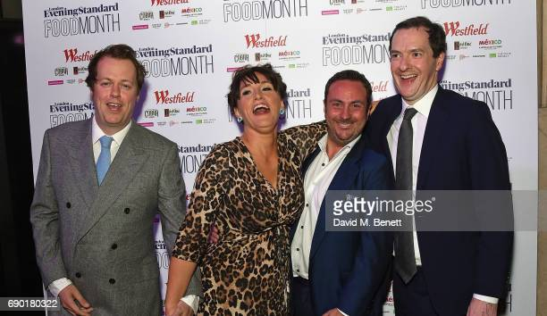 Tom ParkerBowles Grace Dent Joe O'Donnell and George Osborne attend the launch of the London Evening Standard's inaugural Food Month hosted by Grace...