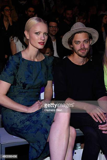 Tom Payne and Franziska Knuppe attend the 'Designer for Tomorrow' by Peek Cloppenburg and Fashion ID show during the MercedesBenz Fashion Week Berlin...