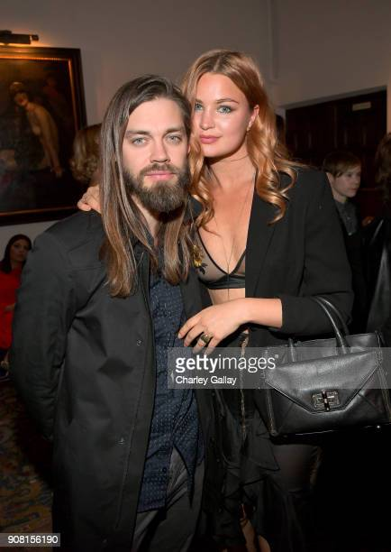 Tom Payne and Jennifer Akerman attend Entertainment Weekly's Screen Actors Guild Award Nominees Celebration sponsored by Maybelline New York at...