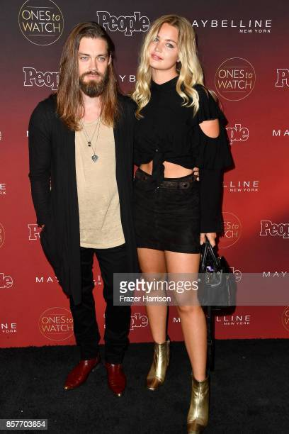 Tom Payne and Jennifer Akerman attend People's 'Ones To Watch' at NeueHouse Hollywood on October 4 2017 in Los Angeles California