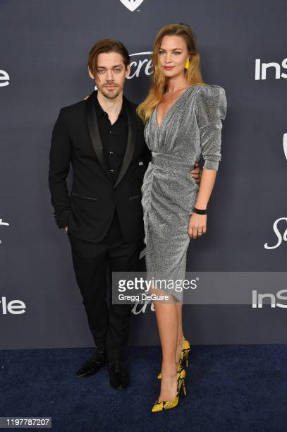 Tom Payne and Jennifer Akerman attend the 21st Annual Warner Bros And InStyle Golden Globe After Party at The Beverly Hilton Hotel on January 05 2020...