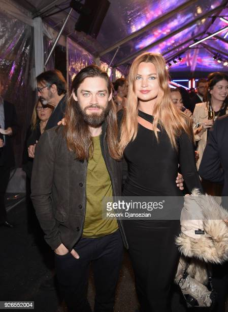 Tom Payne and Jennifer Akerman attend the Great British Film Reception honoring the British nominees of The 90th Annual Academy Awards on March 2...