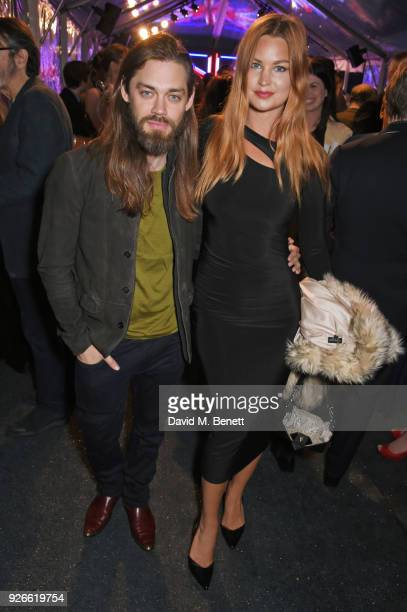 Tom Payne and Jennifer Akerman attend the GREAT British Film Reception honoring the British nominees of The 90th Annual Academy Awards at The British...