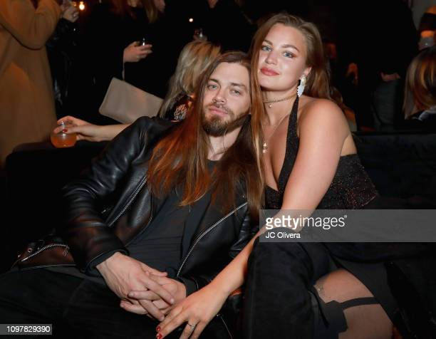 Tom Payne and Jennifer Akerman attend Universal Music Group's 2019 After Party Presented by Citi Celebrates Music's Biggest Night on February 9 2019...