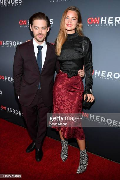 Tom Payne and Jennifer Åkerman attend CNN Heroes at the American Museum of Natural History on December 08 2019 in New York City
