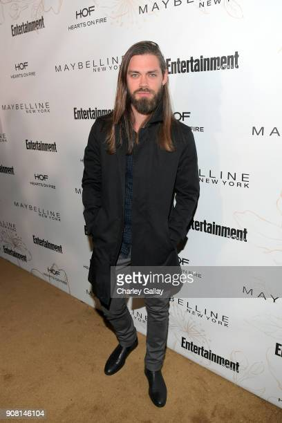 Tom Payne attends Entertainment Weekly's Screen Actors Guild Award Nominees Celebration sponsored by Maybelline New York at Chateau Marmont on...