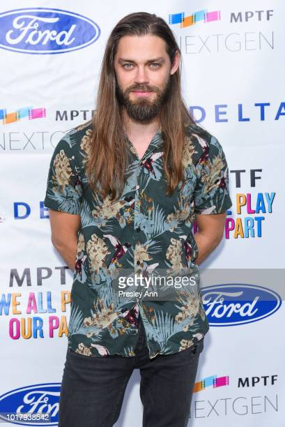 Tom Payne attends MPTF's Annual NextGen Summer Party at Paramount Pictures on August 16 2018 in Los Angeles California