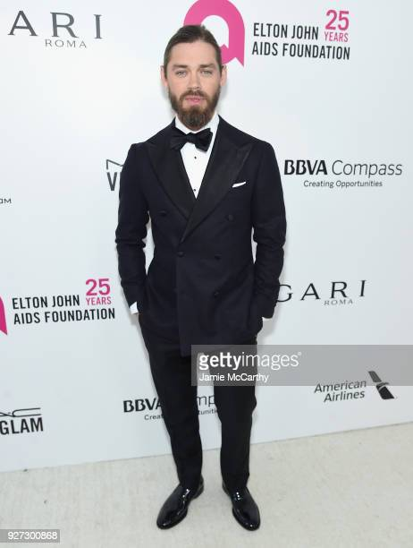 Tom Payne attends the 26th annual Elton John AIDS Foundation Academy Awards Viewing Party sponsored by Bulgari celebrating EJAF and the 90th Academy...