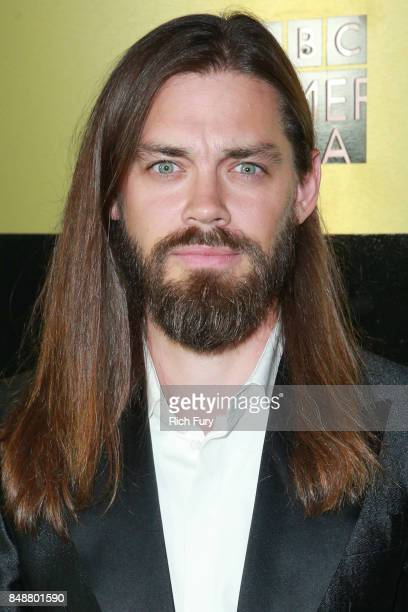 Tom Payne attends the AMC Networks 69th Primetime Emmy Awards AfterParty Celebration at BOA Steakhouse on September 17 2017 in West Hollywood...