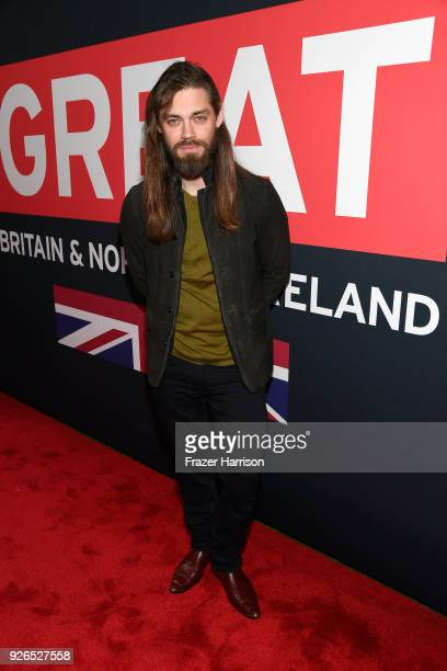 Tom Payne attends the Great British Film Reception honoring the British nominees of The 90th Annual Academy Awards on March 2 2018 in Los Angeles...