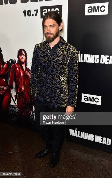 Tom Payne attends the Premiere of AMC's The Walking Dead Season 9 at DGA Theater on September 27 2018 in Los Angeles California