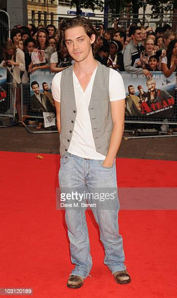 Tom Payne attends the UK Film Premiere of 'The ATeam' at Empire Leicester Square on July 27 2010 in London England
